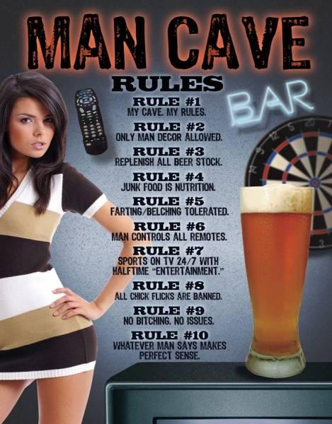 Bilde av Man Cave Rules