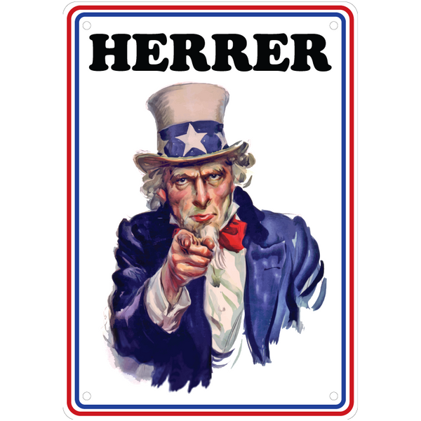 Bilde av Uncle Sam Skilt Herrer A5