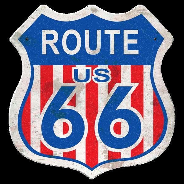 Bilde av Route 66 Red White Blue Shield