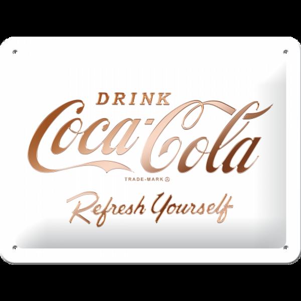 Bilde av Coca-Cola Logo White